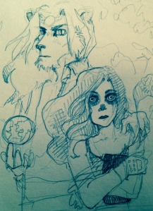 First Sketch by Lys Lydia for Sol Sunburst Cover